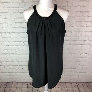 New York and Company sleeveless embellished top L